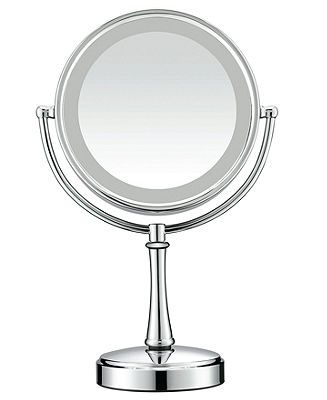 Conair, 7x Magnified Polished Chrome Lighted Makeup Mirror - - Macy's