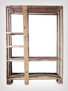 wardrobe closet 226x300 Wardrobe made of pallets