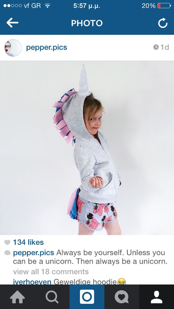 We love Pepper.Pics!!! She is so cute and we are so happy to wear MissFlamingo Unicorn Hoodie!!!