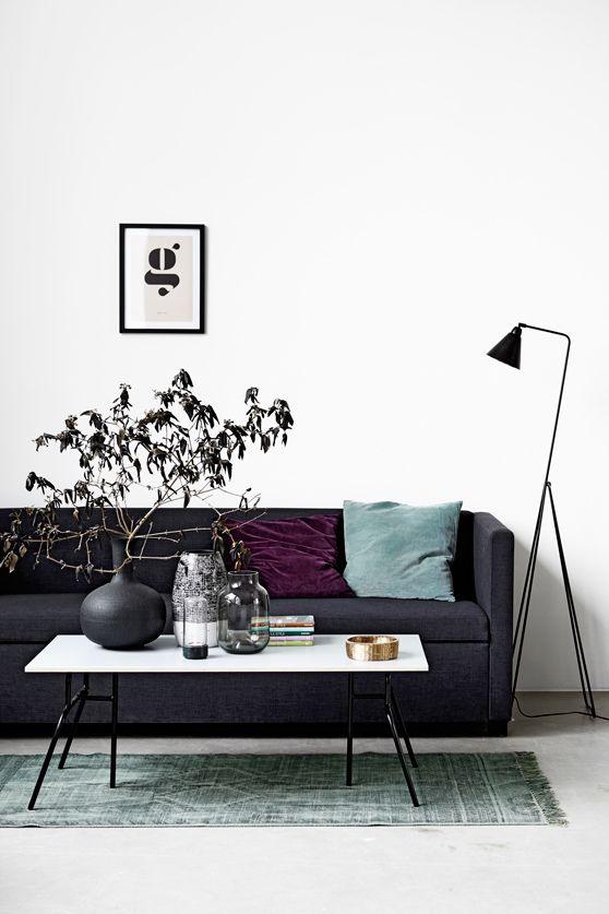 living room, charcoal sofa | House Doctor Moments 2014 6