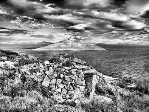 Kornati National park by Tomislav Turčinov - Black & White Landscapes ( clouds, national park, kornati, cottage, croatia, sea, stone,  )