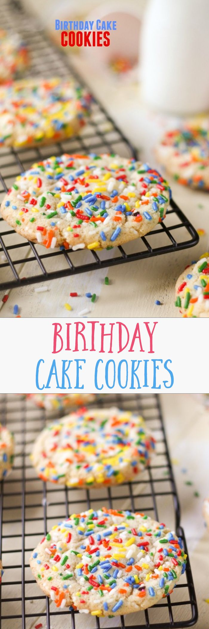 Birthday Cake Cookies I Duplicated One Of Our Favorites From Great American Cookie Company