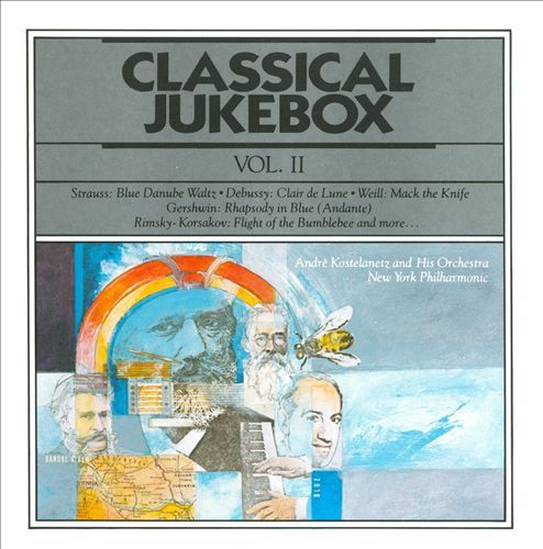 1991 Classical Jukebox, Vol. II (CBS Masterworks) [CBS MLK45737 / 074644573725] cover illustration by Michael Ng #albumcover