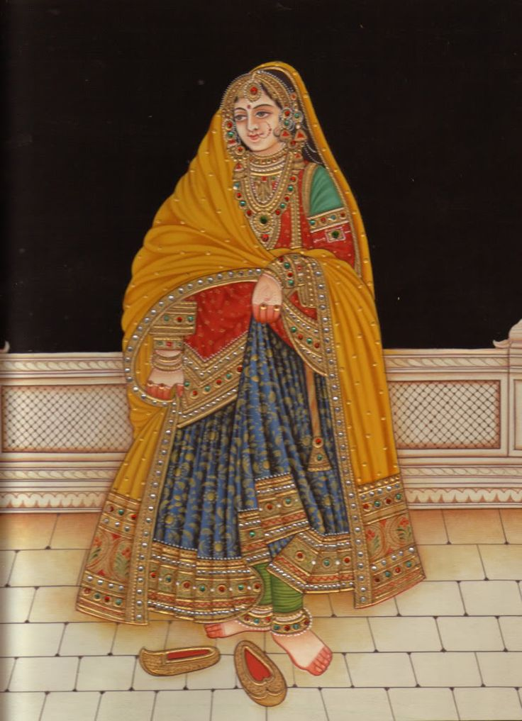 Rajput Painting   Rajput Queen Painting Very Beautiful Rajasthani Pictures