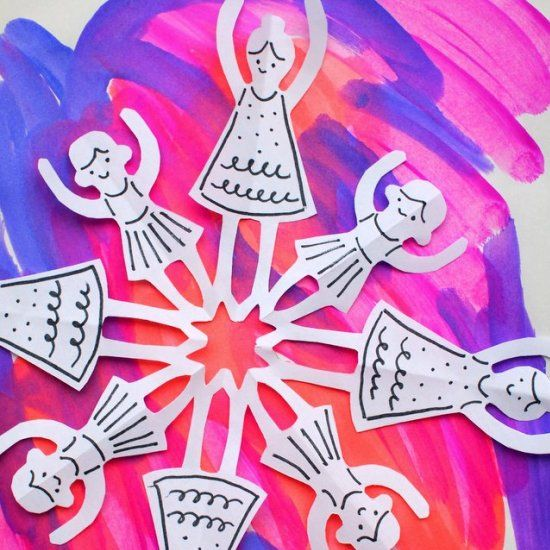 Such a fun paper folding and cutting craft for all dance lovers!