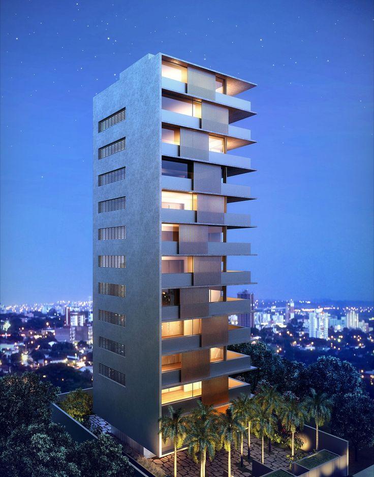 Vertical Itaim - Imagem ilustrativa da fachada noturna.
