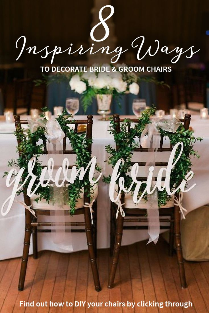 Eight inspiring ways to decorate bride and groom chairs