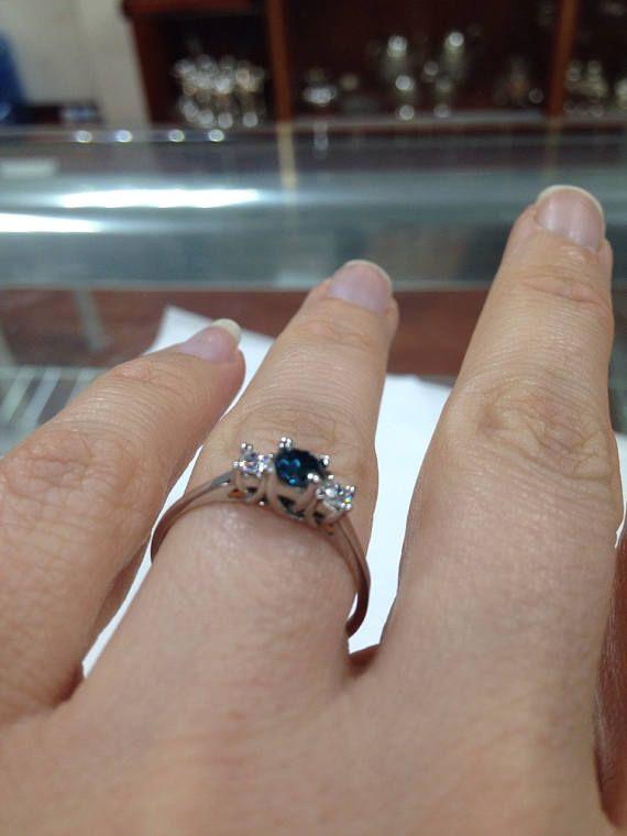 3 anneau de Pierre diamant trois pierre bague bague de