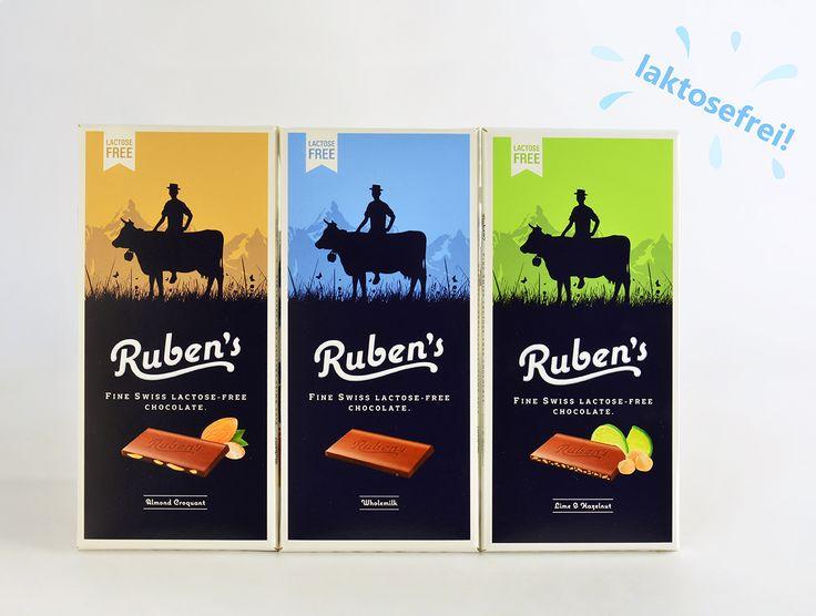 Laktosefreie Schokolade von Ruben's aus der Schweiz