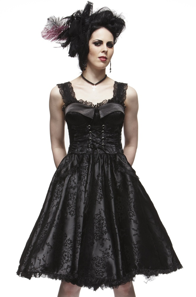 Long black dress full skirt