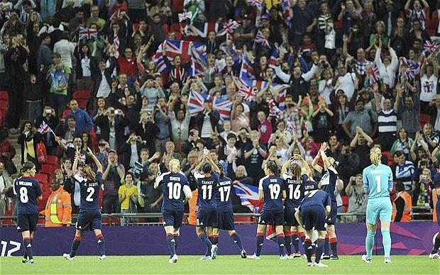 London 2012 Olympics: record crowd watches Team GB women beat Brazil to reach quarter-finals