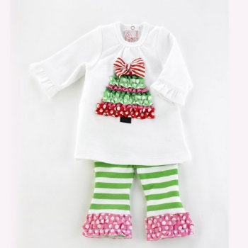 cute Christmas outfit: Girls, Legs Sets, Cute Christmas Outfits, Christmas Shirts, Baby, Trees Tunics, Christmas Ideas, Christmas Trees, Ruffles