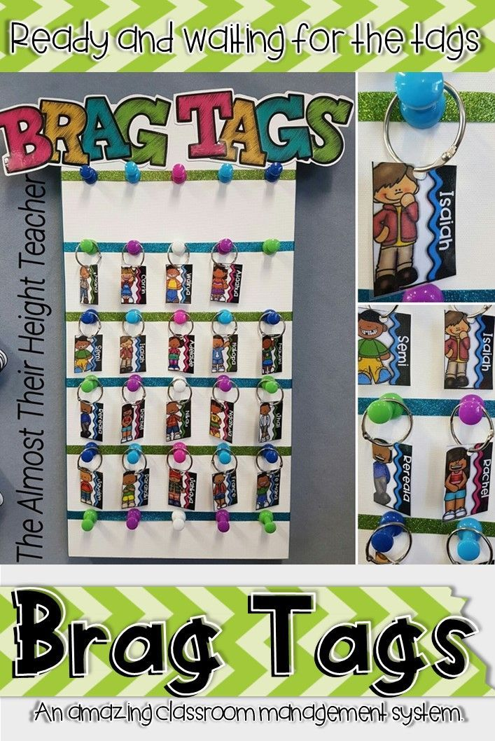 Brag Tags are fabulous in the classroom and my brag tag display board is all ready with the students name tags.  I prefer the binder rings and they are so easy for my little ones to open and close.  Totally the best classroom management system I have come across. | brag tags | rewards | classroom management | behavior management |