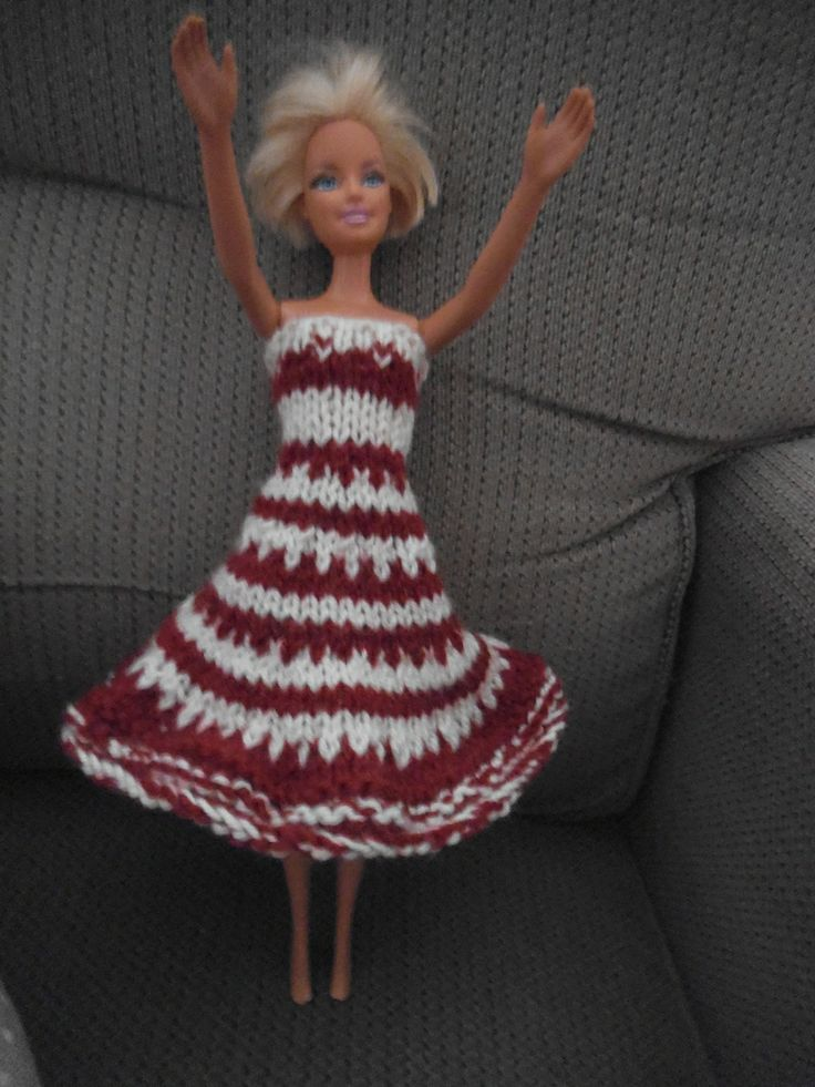 DIY jacquard dress barbie