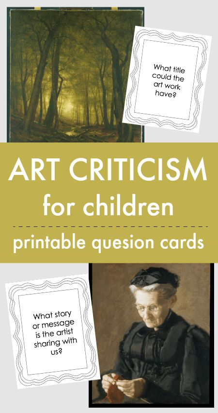 Easy art criticism lesson for children with printables