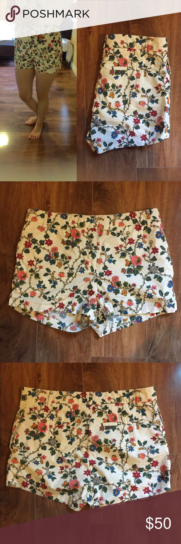 "COS High Rise Floral Shorts Worn only a handful times and washed once. Beautiful floral print. Love these shorts but the waist is too big on me. Purchased at COS store in Barcelona. Inseam approx 2 1/4"" Rise 10"" Waist 16"". Size EUR 38. 100% cotton. 2 side pockets and 2 pocks in the back. COS Shorts"