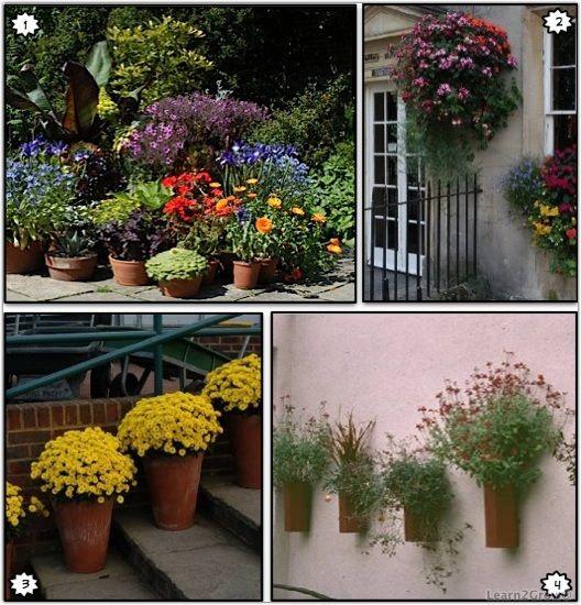 Inspirational container gardens