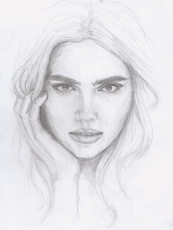 Lost love drawings of facessimple pencil