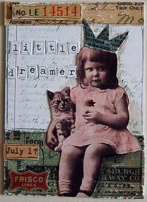 Be Creative Be Happy: ATCs idea and inspiration for rolodex photo album page