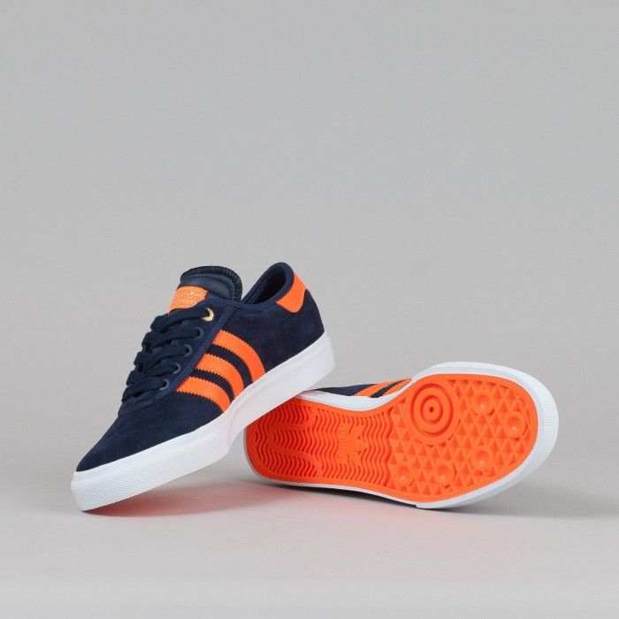 Adidas X The Hundreds Adi-Ease Shoes - Collegiate Navy / Orange / White | Flatspot