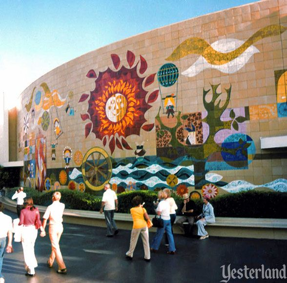 25 best ideas about tile murals on pinterest ceramic for Disneyland mural