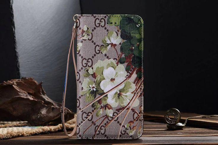 Galaxy S7 Wallet Case GG Green Flower