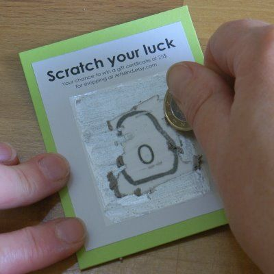 make your own scratch cards