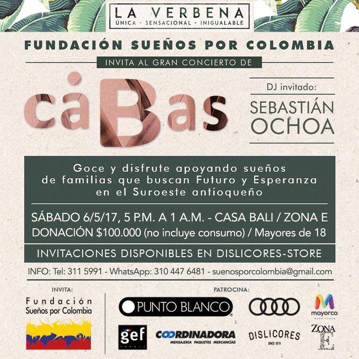 Próximo sábado 6 de mayo ven a nuestro concierto en #CasaBali @cabasmusica @zonaellanogrande