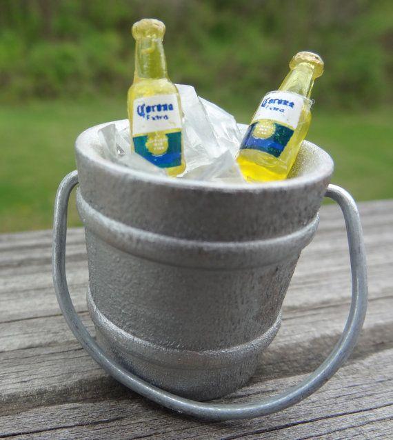 Painted Miniature Bucket of Beer Wedding Cake by PatonLaneDesigns