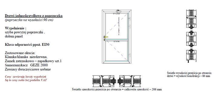 Drzwi przeciwpożarowe EI30 EI60 NAJTANIEJ NA RYNKU