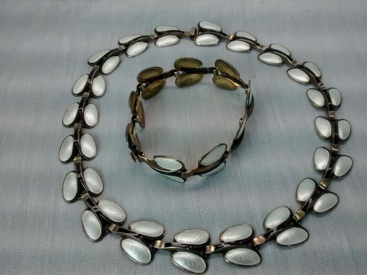Andresen & Scheinpflug sterling  925S Norway enamel  necklace bracelet earrings