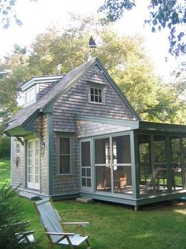 Tiny House by BF Architects - Sleeping porches became popular in the 20th century, when they were advocated by health professionals who believed that the fresh air they provided bolstered immune systems.