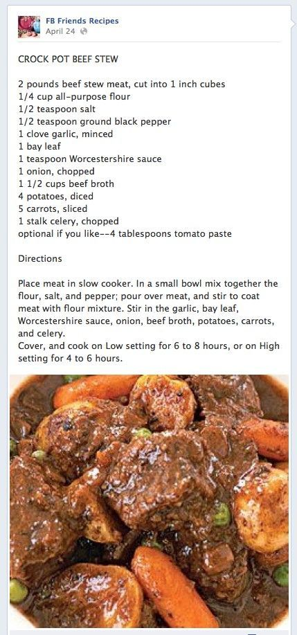 Crock Pot Beef Stew-i've made this twice now and i find it so yummy it's hard not to eat the whole pot the day i make it.: