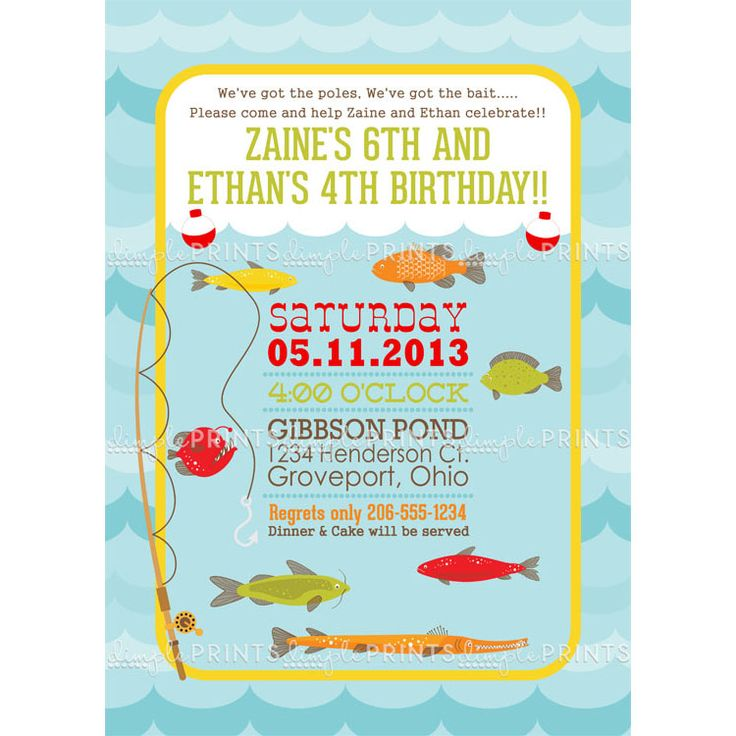 58 best Fishing Party images – Boys Party Invitations