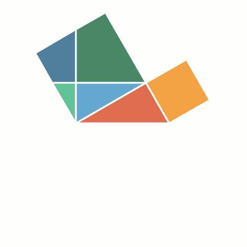 Teorema de Pitágoras en movimientoAquí tenéis la versión interactiva