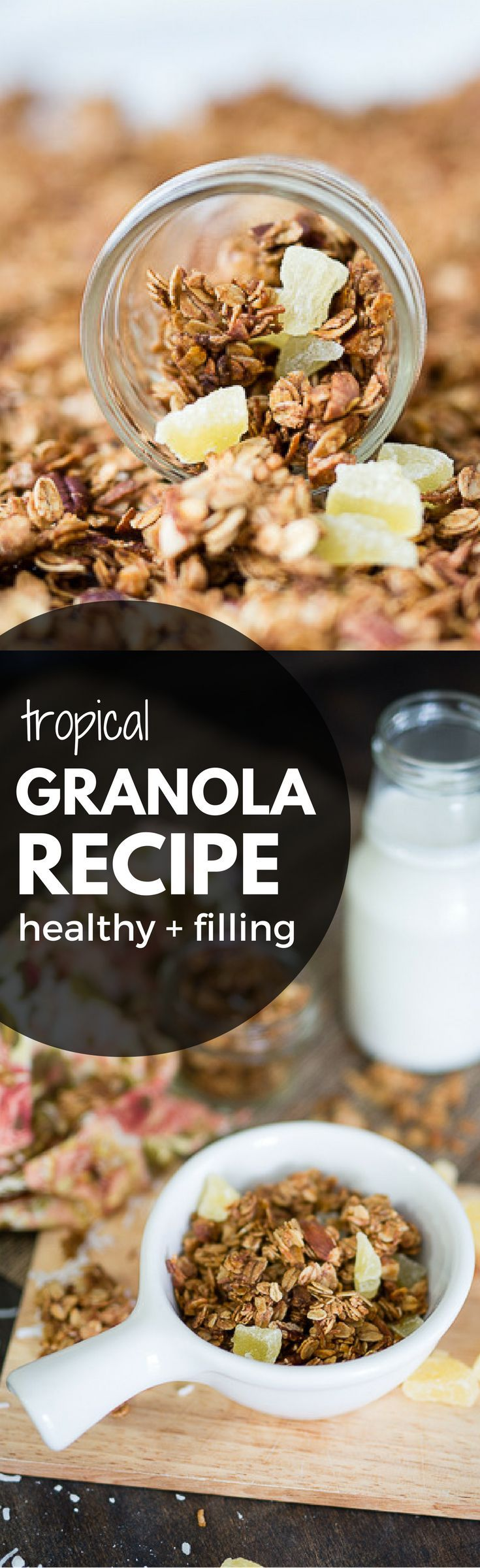 Easy Tropical Granola | Homemade granola recipe, Breakfast and ...