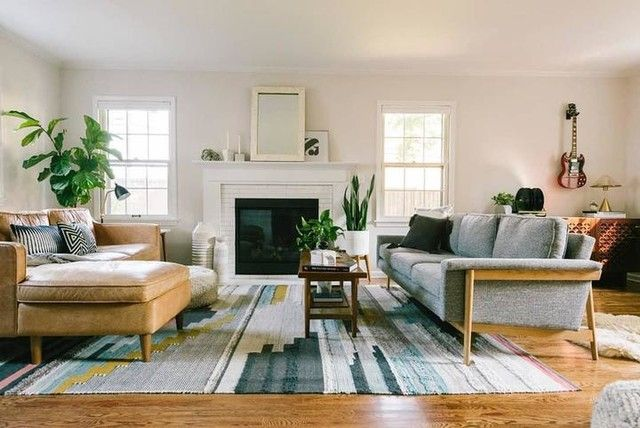 Different Sofas One Sectional Facing Each Other Mismatched Living Room Furniture Couches Living Room Two Sofas Living Room