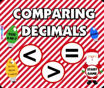 Comparing Decimals (Christmas Style) Smart Board Game – FREE