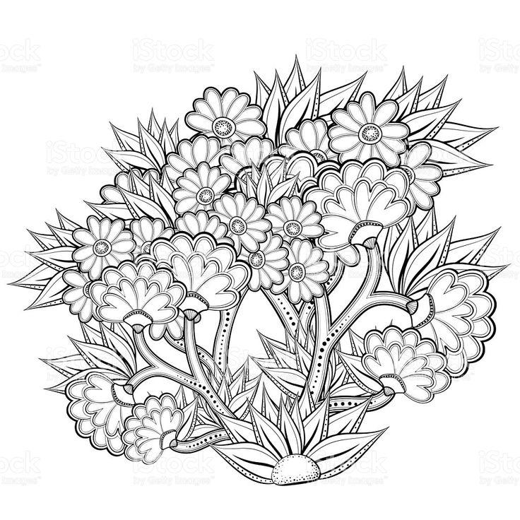 Patrón abstracto libro para colorear con flores illustracion libre de derechos libre de derechos