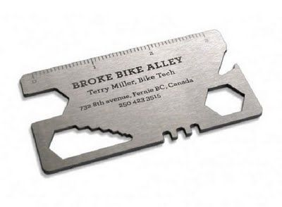 coolest metal business card!
