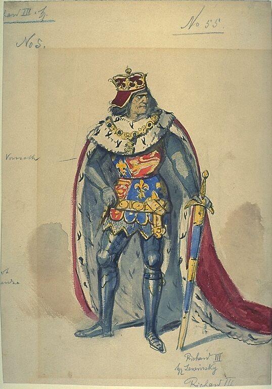 Kostümentwurf für die Figur des Richard III. in 'König Richard III.' von William Shakespeare | Franz Gaul | Bildindex der Kunst & Architektur