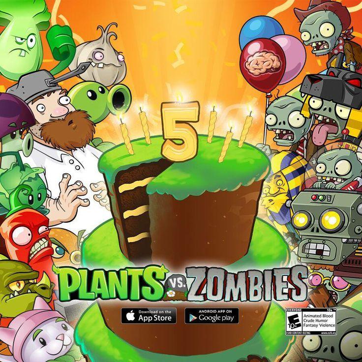 Happy 5th Birthday #PvZ Plants vs Zombies Pinterest Birthdays and Happy