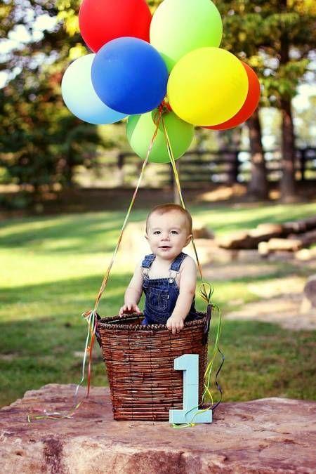 First Boy Birthday Hot Air Balloon