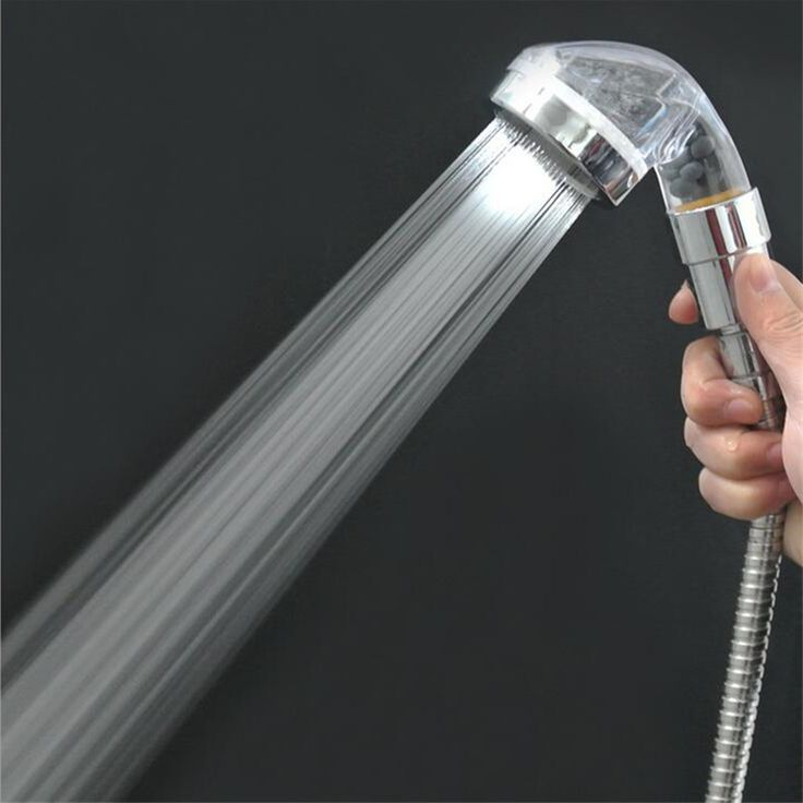 Bathroom High Pressure Spray Handheld Shower Negative Ion Shower Head PC Material Transparent Shower Nozzle For Water Heater