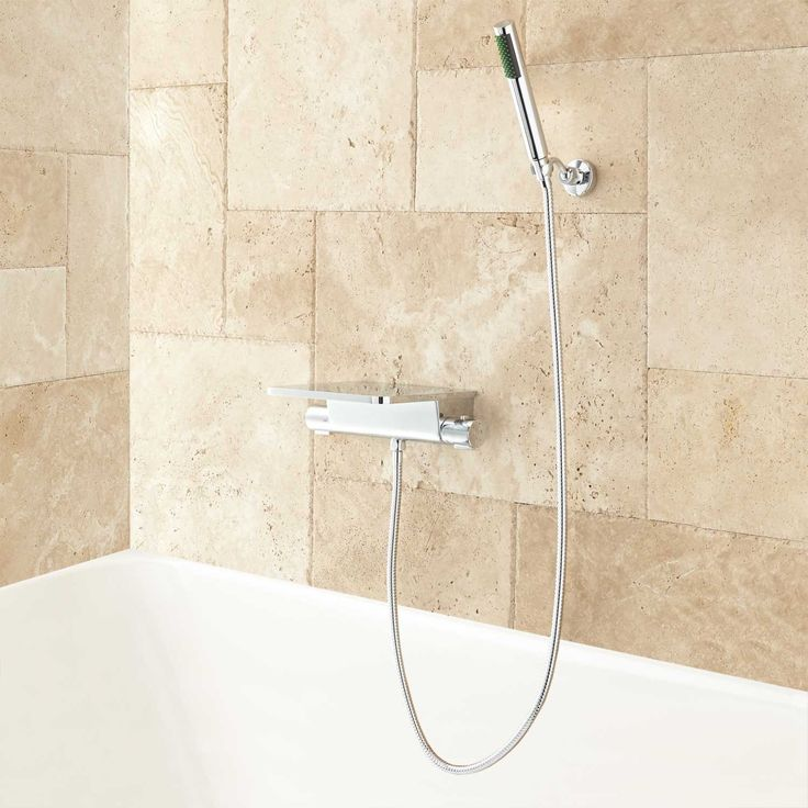 Knox Thermostatic Waterfall Tub Spout With Handshower