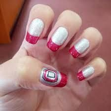 Image result for ohio state buckeye nail art