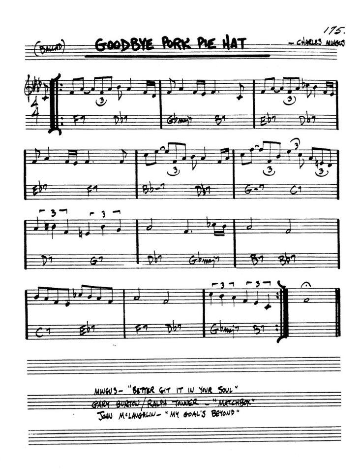 recipe: goodbye pork pie hat piano sheet music [8]