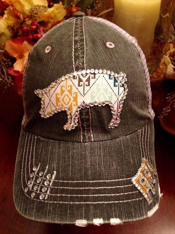 CUSTOM FFA Show Pig Bling Baseball Hat by 2HauteChixHeadwear