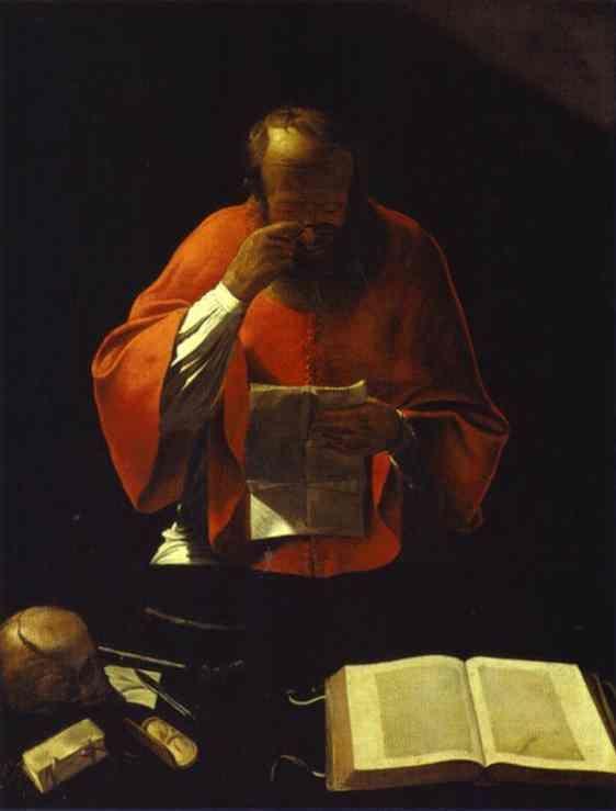 40. St.Jerome reading - Georges de la Tour. Demuestra con tratamiento de la luz cerca en el tenebrismo y un realismo, no escabroso, que le acerca además a las renovación religiosa emprendida en Lorena durante estos años por los franciscanos.