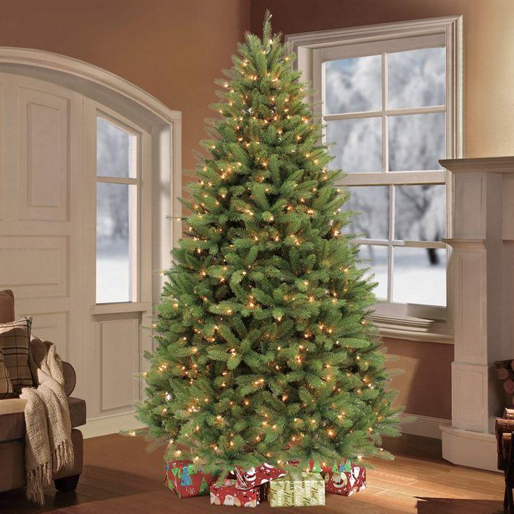 Puleo Tree Company 7.5 Pre-Lit Douglas Fir Premier Artificial Christmas Tree with 800 Clear UL-listed Lights - 114-DFP-A75CY8